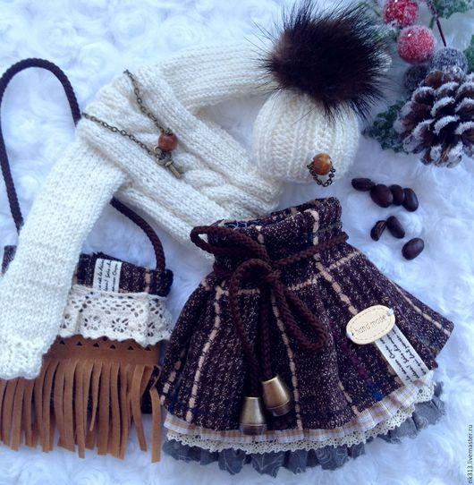 """Одежда для кукол ручной работы. Ярмарка Мастеров - ручная работа. Купить """"Капучино"""" комплект одежды для куклы. Handmade. Бежевый"""