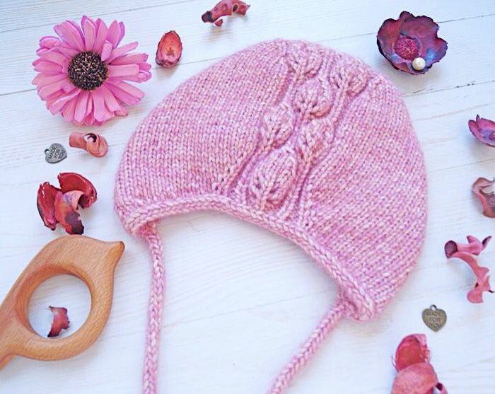 Knitted cap, cap knitting 'Leaves', Mutch, St. Petersburg,  Фото №1