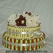 Свадебный салон ручной работы. Ярмарка Мастеров - ручная работа Свадебный торт из конфет. Handmade.