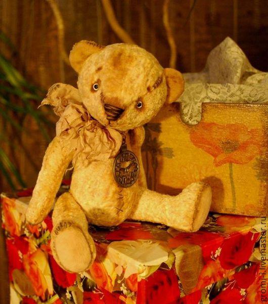 Мишки Тедди ручной работы. Ярмарка Мастеров - ручная работа. Купить Тедди-мишка Тотошка. Handmade. Бежевый