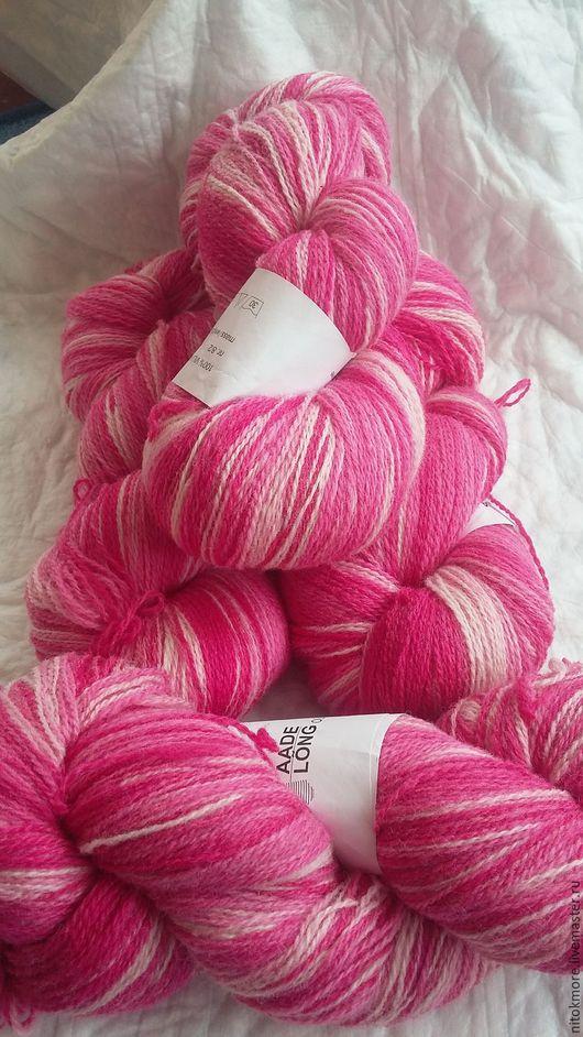 Вязание ручной работы. Ярмарка Мастеров - ручная работа. Купить Кауни Pink-white 8/2. Handmade. Комбинированный, шерсть