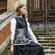 """Одежда ручной работы. Ярмарка Мастеров - ручная работа Жилет """"Совы"""". Handmade."""