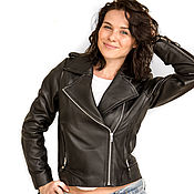Одежда handmade. Livemaster - original item Women`s leather jacket . Spring / autumn jacket of genuine leather. Handmade.