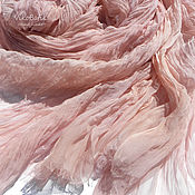 handmade. Livemaster - original item dusty rose. Silk scarf stole batik. 100% silk. Handmade.