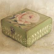 Для дома и интерьера ручной работы. Ярмарка Мастеров - ручная работа шкатулка Королева цветов. Handmade.