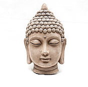 Для дома и интерьера handmade. Livemaster - original item Buddha mask decorative concrete in gold, bronze ethnic style. Handmade.