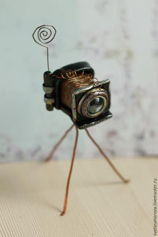 Статуэтки ручной работы. Ярмарка Мастеров - ручная работа. Купить фотоаппарат -фоторамка!!!. Handmade. Держатель для фото, конкурс, стеклянный шар