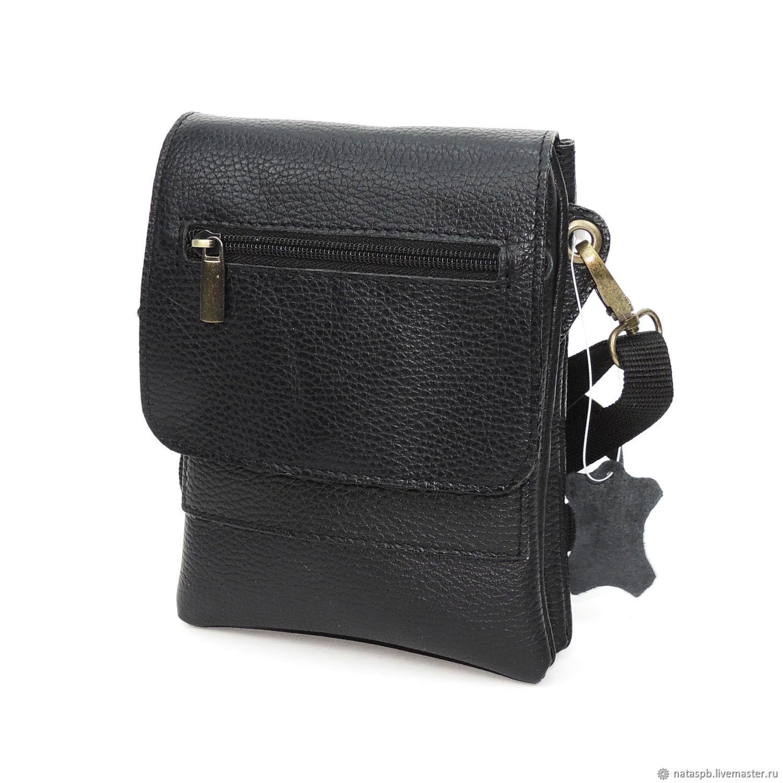 f585bc164a65e Online shopping on Men's Bags handmade. Order Men's bag leather black inter.  Natalia Kalinovskaya. Livemaster.