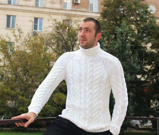 """Для мужчин, ручной работы. Ярмарка Мастеров - ручная работа. Купить свитер """"Белая мечта"""". Handmade. Свитер"""