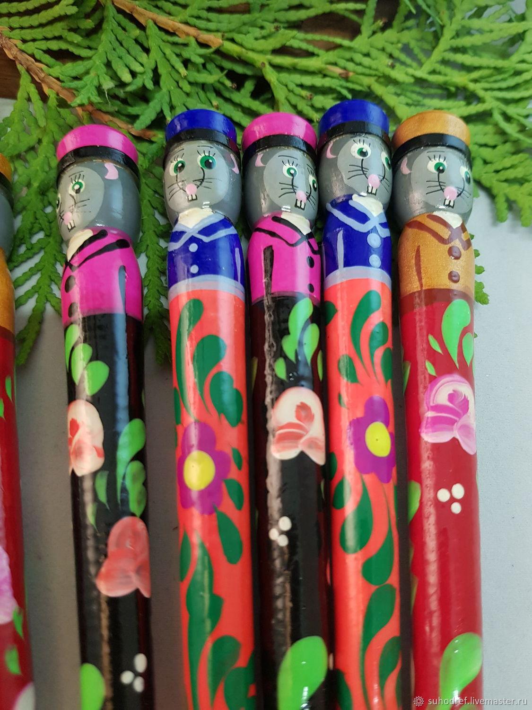 Деревянная ручка символ новогого 2020 года, Ручки, Чехов,  Фото №1