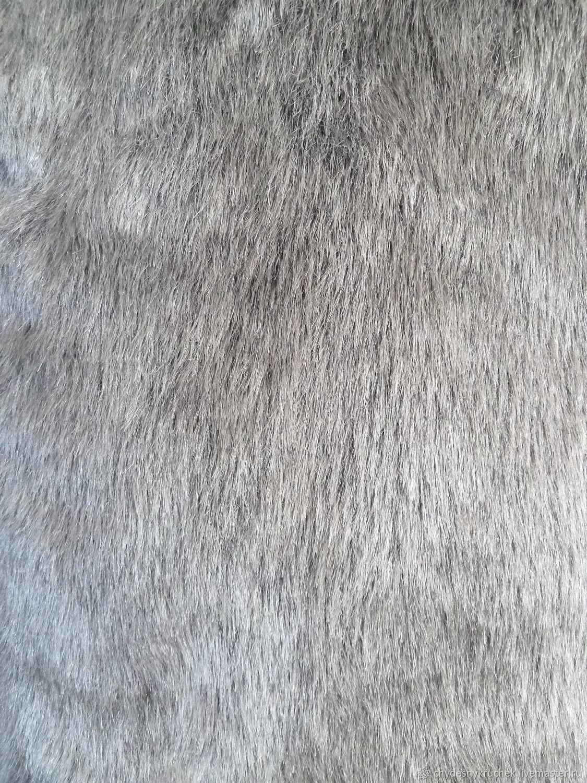 Искусственный мех, серебристо-серый, ворс 3 см, Ткани, Чебоксары,  Фото №1