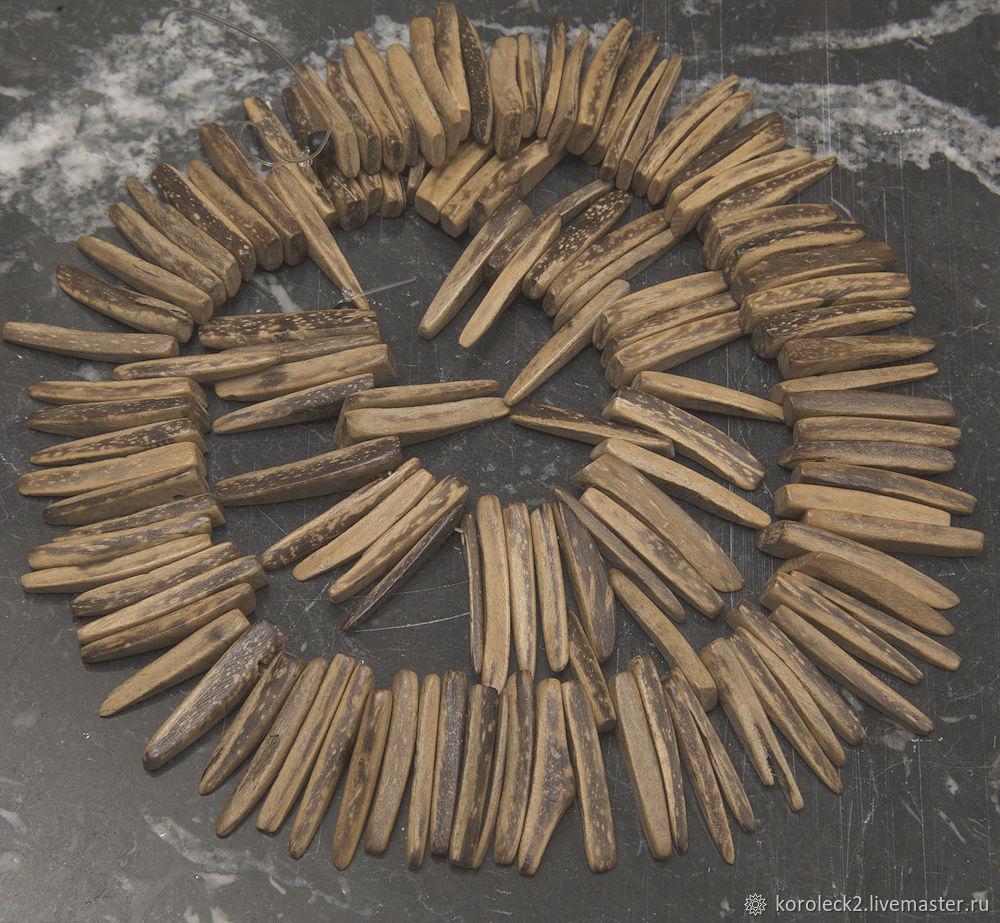 Стики из тигрового кокоса, 23 мм, Бусины, Москва,  Фото №1