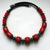 Украшения handmade. Livemaster - original item Red necklace. Handmade.