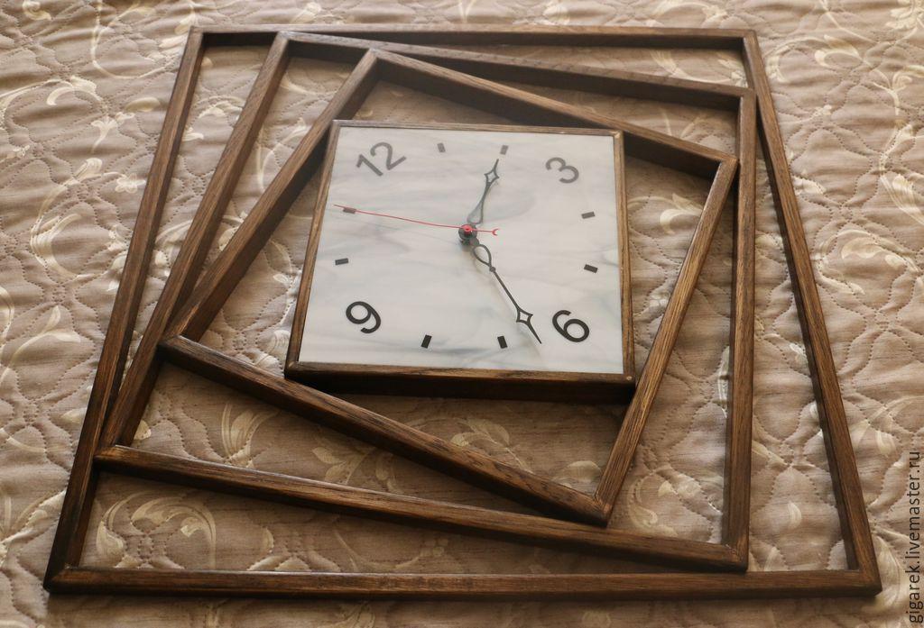 Часы деревянные настенные