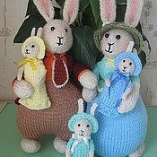 Куклы и игрушки ручной работы. Ярмарка Мастеров - ручная работа Семейка зайцев. Handmade.