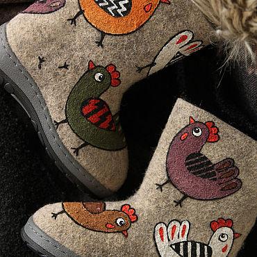 Footwear handmade. Livemaster - original item Felt Boots