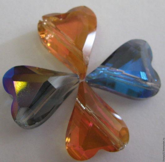 Для украшений ручной работы. Ярмарка Мастеров - ручная работа. Купить кристалл - сердце. Handmade. Сиреневый, хрусталь Сваровски, сердечко