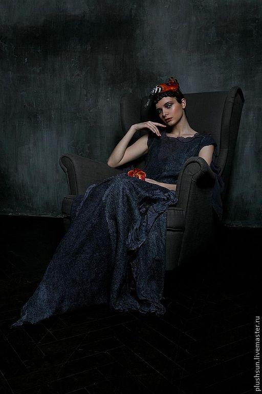 Платья ручной работы. Ярмарка Мастеров - ручная работа. Купить Валяное платье «Птица страсти». Handmade. Платье ручной работы