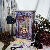 """Для дома и интерьера ручной работы. Ярмарка Мастеров - ручная работа Ключница """"Лаванда"""". Handmade."""