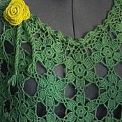 Одежда handmade. Livemaster - original item Poncho knitted Summer evening. Handmade.