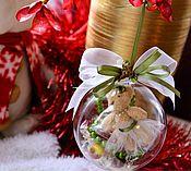 Подарки к праздникам ручной работы. Ярмарка Мастеров - ручная работа Праздничные бусы со сладким подарком в шаре ШаробУ. Handmade.