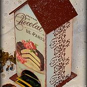 """Для дома и интерьера ручной работы. Ярмарка Мастеров - ручная работа Чайный домик """"Кусочек торта"""". Handmade."""