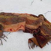 Аксессуары handmade. Livemaster - original item Tippet Tangerine felted garland with cinnamon. Handmade.
