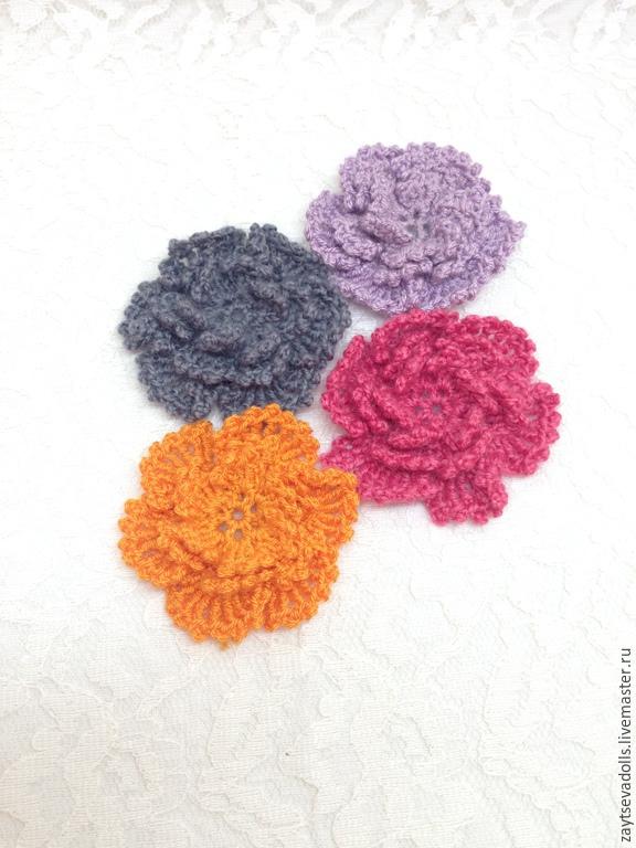 вязанный цветок, Одежда для кукол, Белгород,  Фото №1