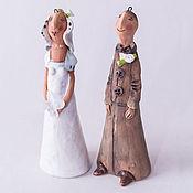 """Свадебный салон ручной работы. Ярмарка Мастеров - ручная работа """"Жених и невеста"""". Handmade."""