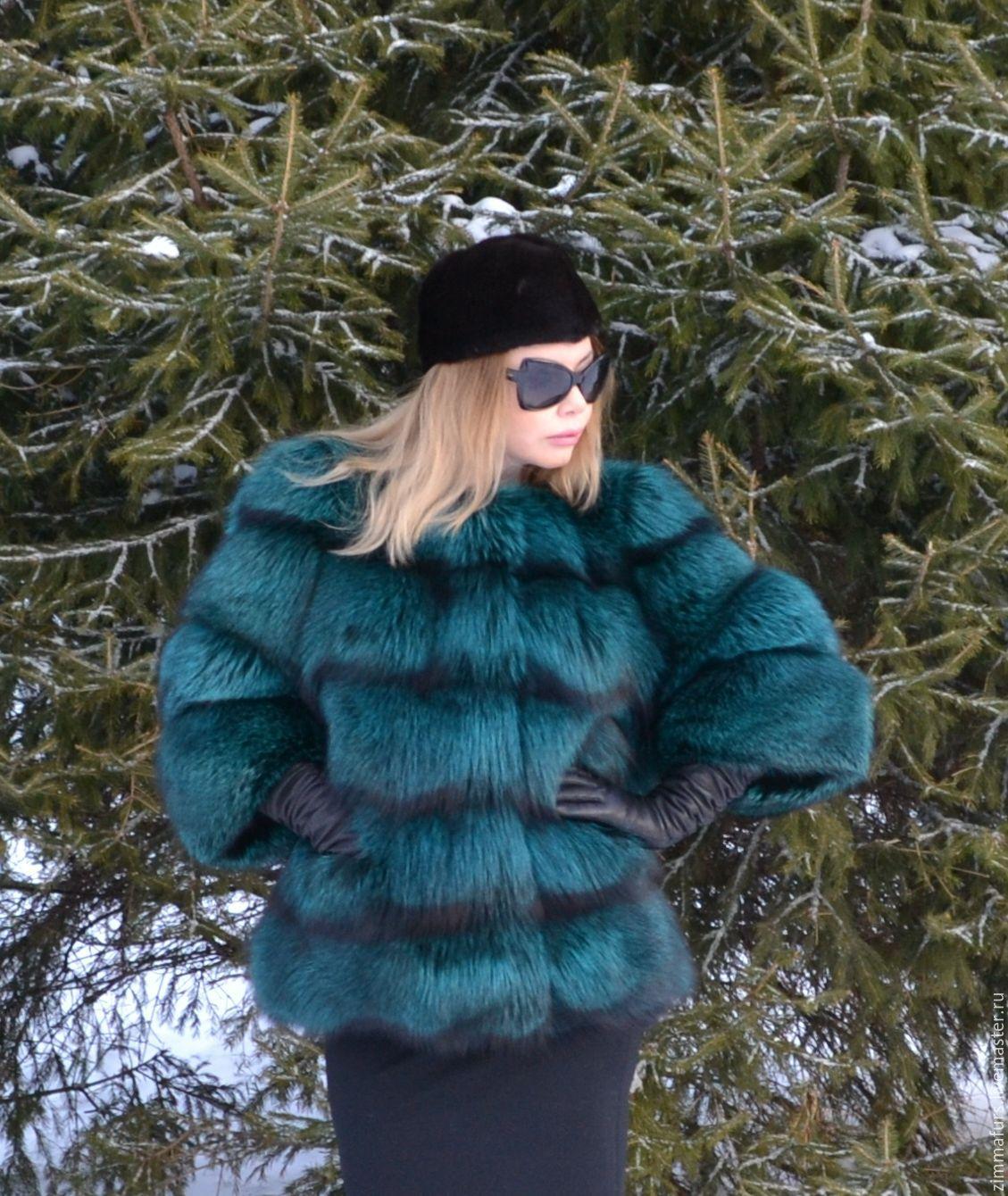 coat. jacket. Fur silver (silver) foxes. Cross, Fur Coats, Omsk,  Фото №1