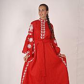 Одежда ручной работы. Ярмарка Мастеров - ручная работа Женское вышитое платье бохо стиль ,Bohemian. Handmade.