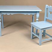 Мебель ручной работы. Ярмарка Мастеров - ручная работа Детский стол и стул деревянный. Handmade.