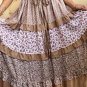 Одежда handmade. Livemaster - original item Summer loose boho suit with long skirt and cotton belt. Handmade.