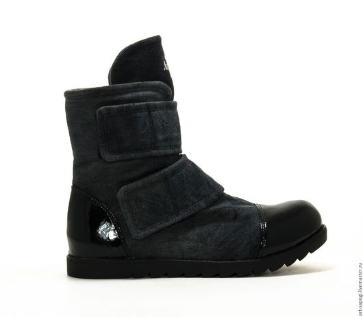 Обувь ручной работы. Ярмарка Мастеров - ручная работа. Купить Ботинки на липах 6-291-03  (СЧ). Handmade. Мода