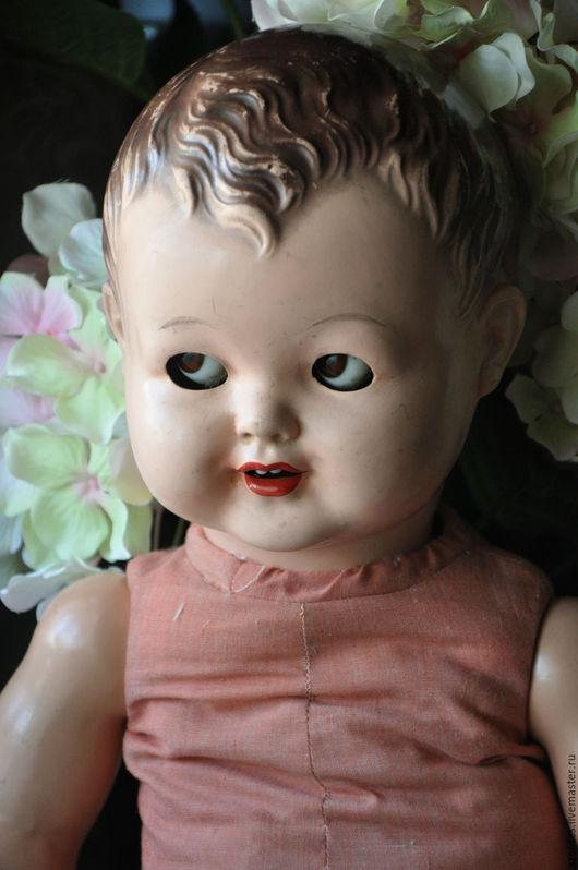 Винтажные куклы и игрушки. Ярмарка Мастеров - ручная работа. Купить Винтажный пупс. Handmade. Бежевый, старинная кукла