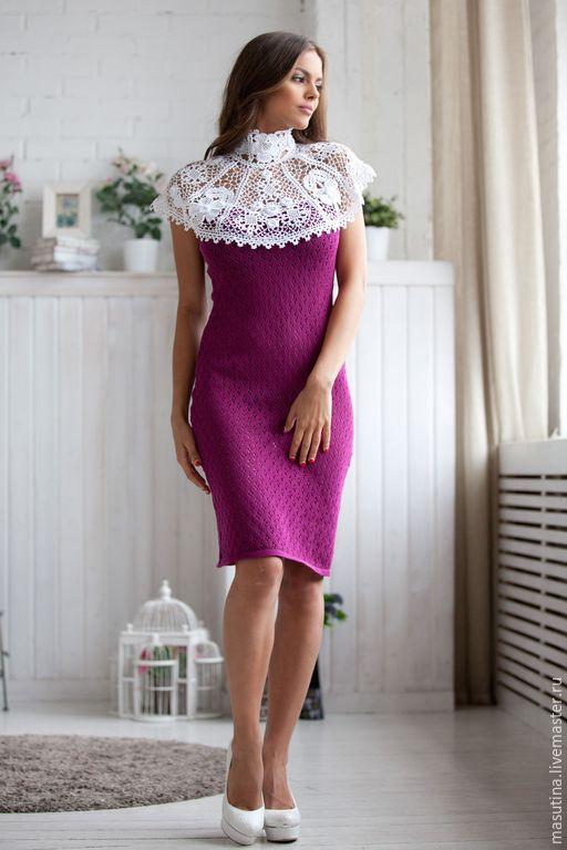 """Платья ручной работы. Ярмарка Мастеров - ручная работа. Купить Платье """"Рококо"""". Handmade. Вязаное платье, krochet lace, акрил"""