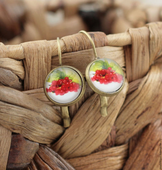 """Серьги ручной работы. Ярмарка Мастеров - ручная работа. Купить Серьги """"Смородина красная"""". Handmade. Ярко-красный, серьги с ягодами"""