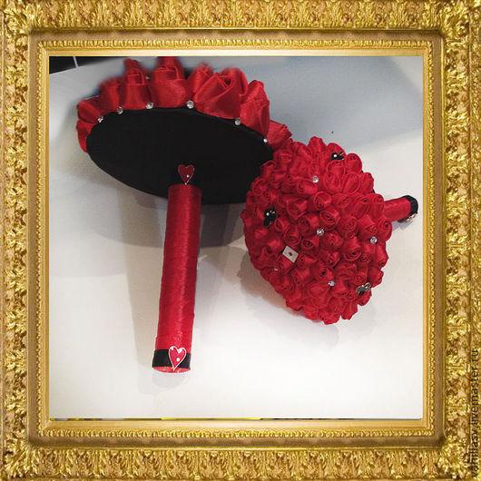 Свадебные цветы ручной работы. Ярмарка Мастеров - ручная работа. Купить Свадебный букет для тематической свадьбы. Handmade. Ярко-красный