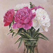 Картины и панно handmade. Livemaster - original item oil painting. peonies. still life with flowers. Handmade.