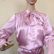 Одежда handmade. Livemaster - original item Women`s blouse ,Vintage / silk, pink. Handmade.