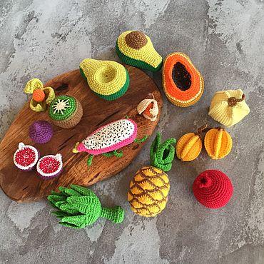 Куклы и игрушки ручной работы. Ярмарка Мастеров - ручная работа Набор фруктов «Экзотика». Handmade.