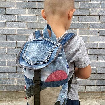 Bags and accessories handmade. Livemaster - original item Backpack denim the Wizard of Oz. Handmade.
