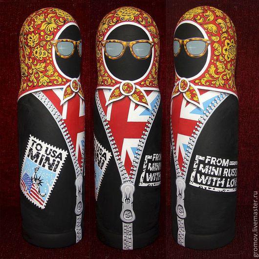 Футляр под бутылку 1литр. Подарок от Российского подразделения Мини Купер коллегам из США