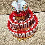 Съедобные букеты ручной работы. Ярмарка Мастеров - ручная работа Торт из киндеров. Handmade.