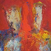 Картины и панно ручной работы. Ярмарка Мастеров - ручная работа КАРТИНА ТЕМПЕРА ЛЮДИ ПО МОТИВАМ SYLVIA GOEBEL. Handmade.