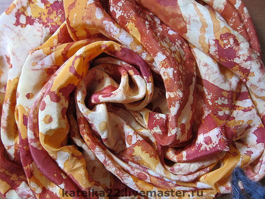 """Шали, палантины ручной работы. Ярмарка Мастеров - ручная работа. Купить Шелковый платок """"Осень"""". Handmade. Шелковый платок"""