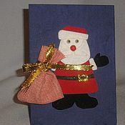 Открытки ручной работы. Ярмарка Мастеров - ручная работа Дед Мороз. Handmade.