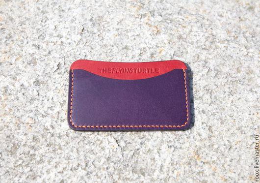 Кошельки и визитницы ручной работы. Ярмарка Мастеров - ручная работа. Купить Кардхолдер визитница из кожи Horween ( card case ). Handmade.