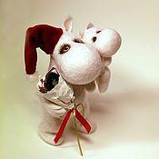 Куклы и игрушки ручной работы. Ярмарка Мастеров - ручная работа Новогодний муми-тролль :). Handmade.