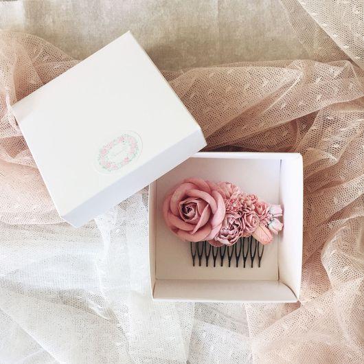 Заколки ручной работы. Ярмарка Мастеров - ручная работа. Купить Гребень для волос Serenity Rose. Handmade. Гребень для волос
